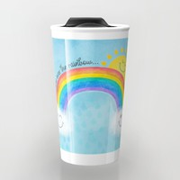 Somewhere over the rainbow... Travel Mug by Noonday Design | Society6