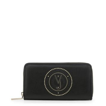 Versace Jeans Black Synthetic Leather Purse