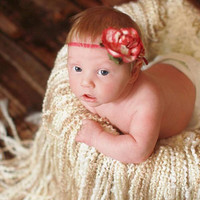 Crochet Fringy Baby Blanket Photo Prop