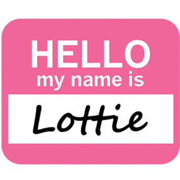 Lottie Hello My Name Is Mouse Pad