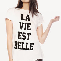 LA VIE EST BELLE DESERT CREWNECK at Wildfox Couture in  CHILL PILL, - CLEAN BLACK