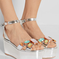 Sophia Webster - Suki Gem embellished mirrored-leather sandals
