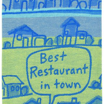 Best Restaurant in Town Woven Dish Towel