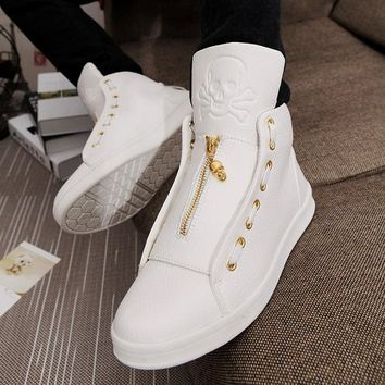 Men's High Quality Skull Casual Luxury Shoes