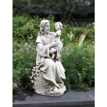 20 inch Jesus With Child Gdn | Overstock.com Shopping - The Best Deals on Decorative Collectibles