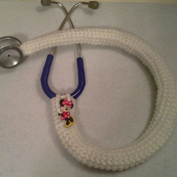 Disney Minnie Mouse Button Stethoscope Cover, Nurses Stethoscope Covers, LPN, RN, CNA, medical fashion accessories, crochet