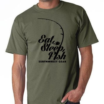 Cotton Tshirts - Eat Sleep Fish T Shirt