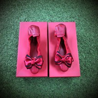 Ferragamo Flower Ballet Red Flat - Best Online Sale