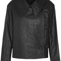 Lemaire - Double-breasted coated cotton-blend twill jacket