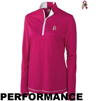 Cutter & Buck San Francisco 49ers Ladies BCA Choice Performance Half Zip Long Jacket - Pink