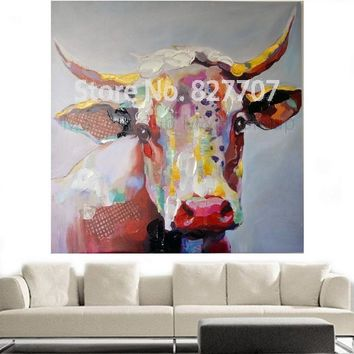 Art Oil Painting home-made Cow modern No Frame