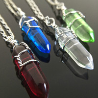 Crystal Necklaces - Elemental Jewelry Fire Water Air Earth Crystal Elements