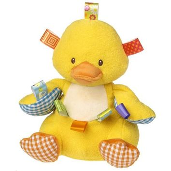 """Mary Meyers Duck Yellow Oh So Softies Taggies Stuffed Toy Plush Baby Gift 15""""."""