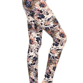 Leggings Depot Yoga Waist REGPlus Womens Buttery Soft Workout Gym Leggings