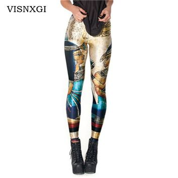 New Novelty 3D Printed Fashion Women Leggings Space Galaxy