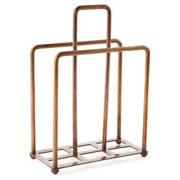 Brass Magazine Holder, Shelves & Racks
