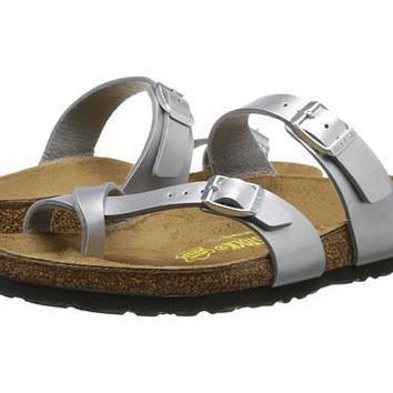 Beauty Ticks Birkenstock Mayari Sandals Silver Birko-flor