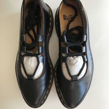 Elphie Polished Smooth Mary Jane Shoes