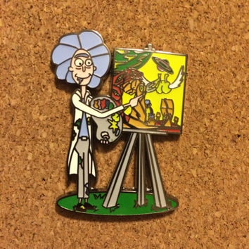 Rick Ross Rick and Morty hat pin
