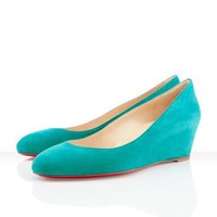 Christian Louboutin - new peanut turquoise, blue, wedges, womens shoes 45mm high heel shoes