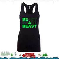 Beast. Womens Workout Tank Top. Workout Tank. Racerback Tank. Beast Mode. Exercise Tank. Workout Clothes for Women. Running Tank. Fitness