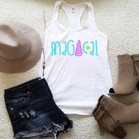 Magical tank top tank top for women in racerback funny saying graphic slogan tumblr instagram gift