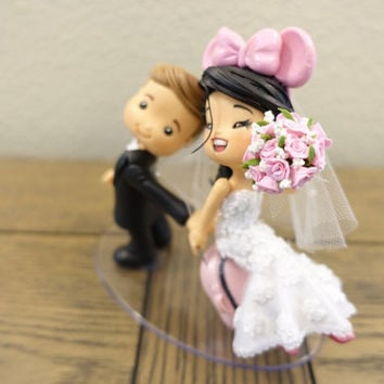 Couple Wedding Cake Topper, Wedding Cake Topper, Cute Cake Topper, Custom Cake Topper,