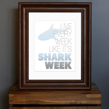 Inspirational Typography Art Print  Live Every Week by CisforColor