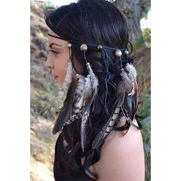 Boho Feather Headband #B1027