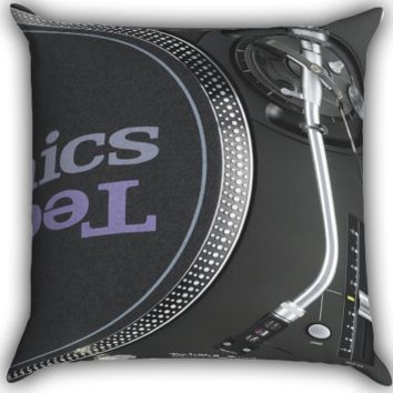 Technics 1210s 1210 Turntables mk5 Vinyl DJ Zippered Pillows  Covers 16x16, 18x18, 20x20 Inches