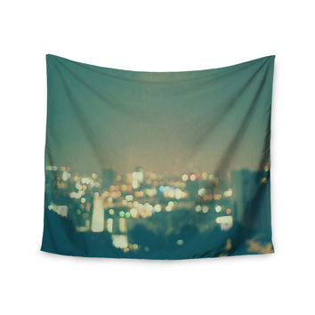 "Myan Soffia ""Anniversary"" City Lights Wall Tapestry"