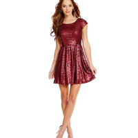 Honey and Rosie Sequin Skater Dress | Dillards