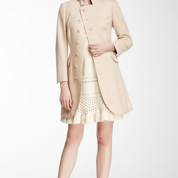 HauteLook | RED Valentino: RED Valentino Bow Neck Wool Blend Pea Coat