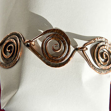 Copper Bracelet 'Leaf Link Chain' Style 2 ft Celtic by Spoon37