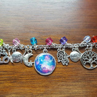 Healing a colorful soul themed charm bracelet