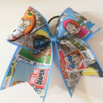 Family Guy Large Cheer Bow Hair Bow Cheerleading