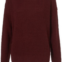 Knitted Textured Grunge Jumper - Jumpers - Knitwear  - Clothing