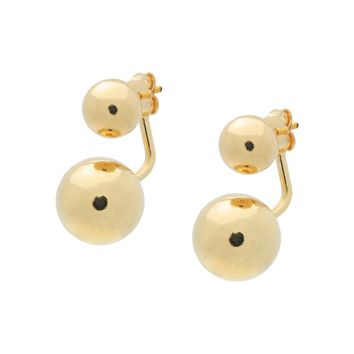 Golden Sterling Silver Earring