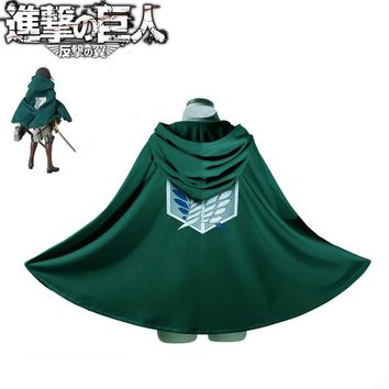 Cool Attack on Titan Cosplay Anime  No  Cloak Cape Costume Japanese cartoon rivaille   AT_90_11