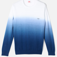 Lacoste L!VE Supima Cotton Dip-Dye Sweater : L!VE