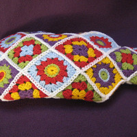 Crochet Pattern Hot Water Bottle Cover Cosy Diagonal Square PDF