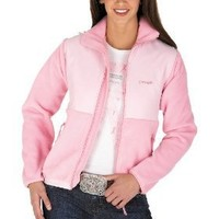 Wrangler Women's Tough Enough To Wear Pink Breast Cancer Awareness Jacket,Pink,Large