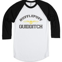 Hufflepuff Quidditch-Unisex White/Black T-Shirt