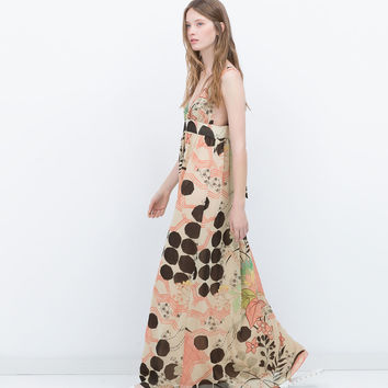 LONG PRINTED DRESS New