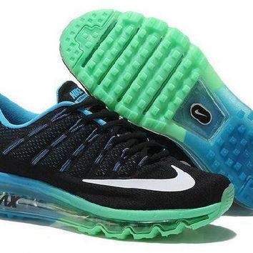 PEAPN Ready Stock Nike Air Max 2016 On Sale Black Jade Green Running Shoes Sport Running Shoes