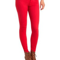 "Refuge ""Skin Tight Legging"" Colored Skinny Jeans - Red"