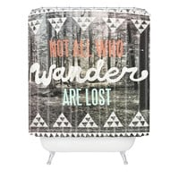 Wesley Bird Wander Shower Curtain