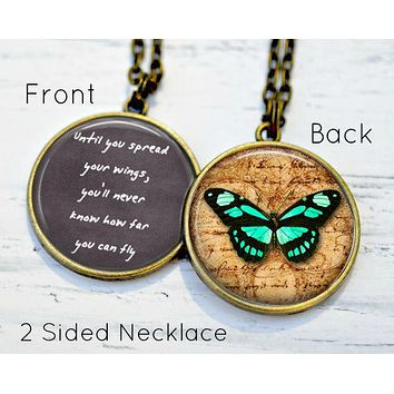 Butterfly Necklace - Gift Daughter - Inspirational Necklace - Gift for Daughter in Law - Inspirational Jewelry - Handmade Gifts