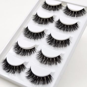 5 Pairs/Pack Visofree Eyelashes Fur Friendly Styles Mink Lashes Crisscross False Eyelash Hand Made Eye Lashes Makeup Maquiagem