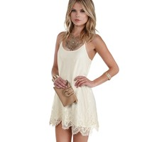 Ivory Good Feeling Crochet Tunic